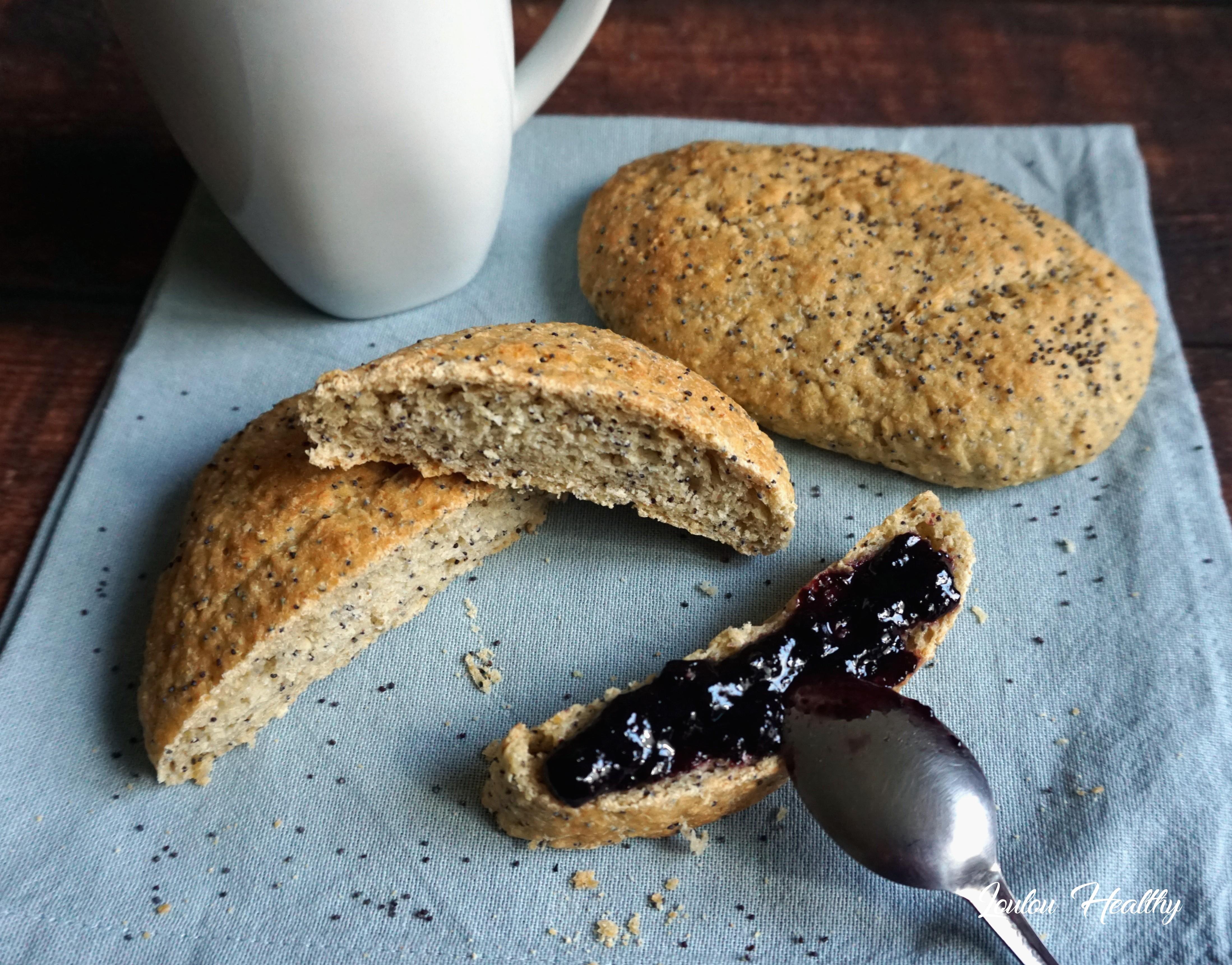 pains à l'avoine et graines de pavot
