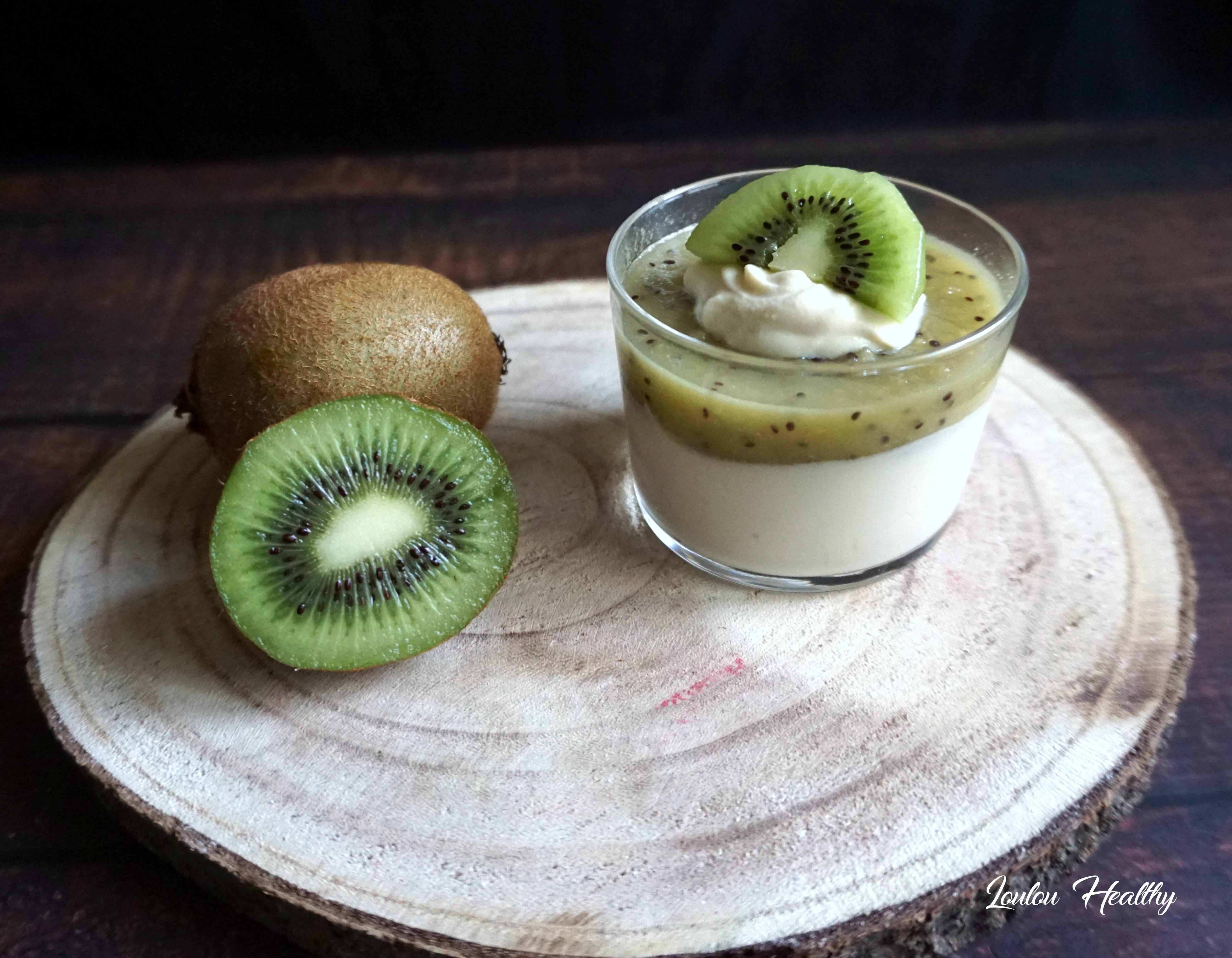 verrines mangue et kiwi