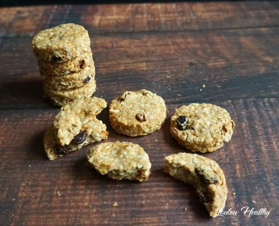 cookies aux céréales, amandes et cacahuètes