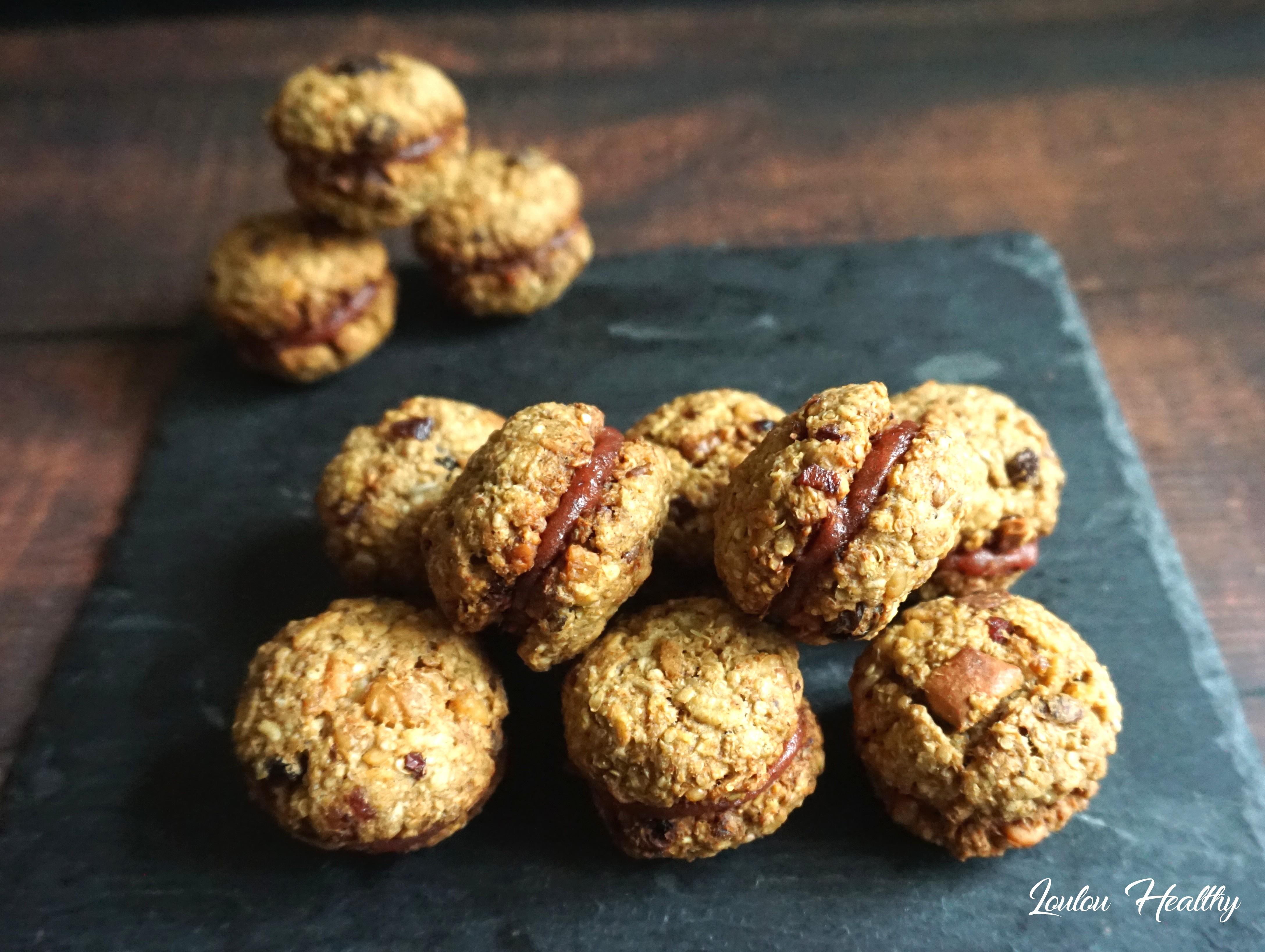 cookies relax aux noix fourrés fruits rouges