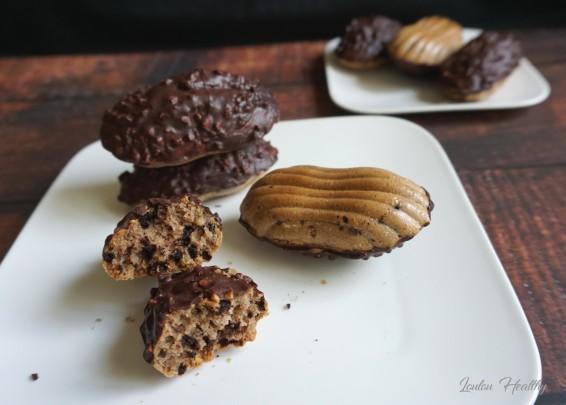madeleines choco-noisette