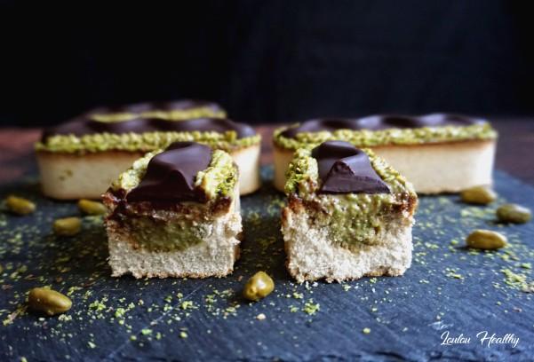 tartelettes coco, pistache, chocolat