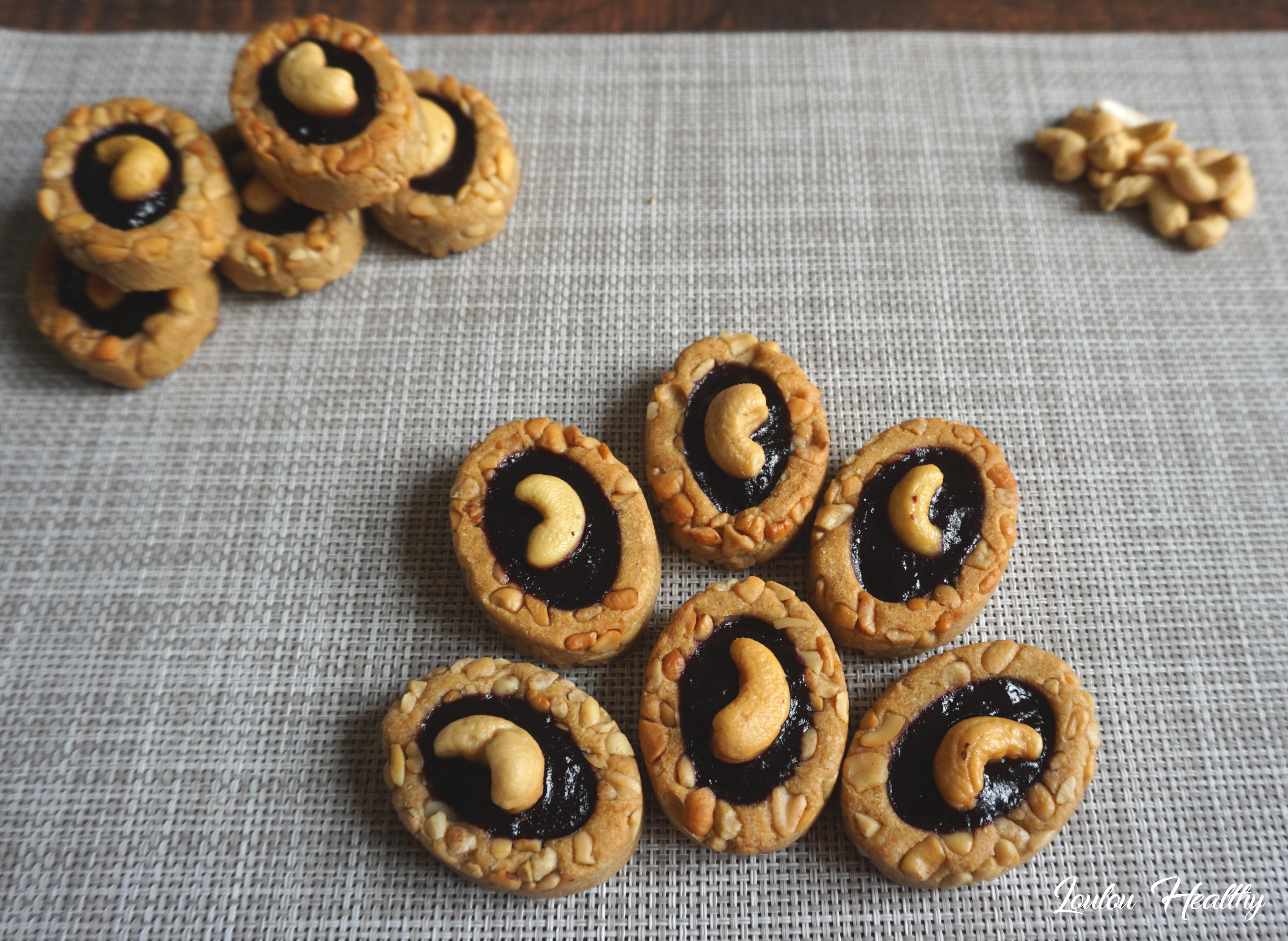 biscuits noix de cajou et fruits