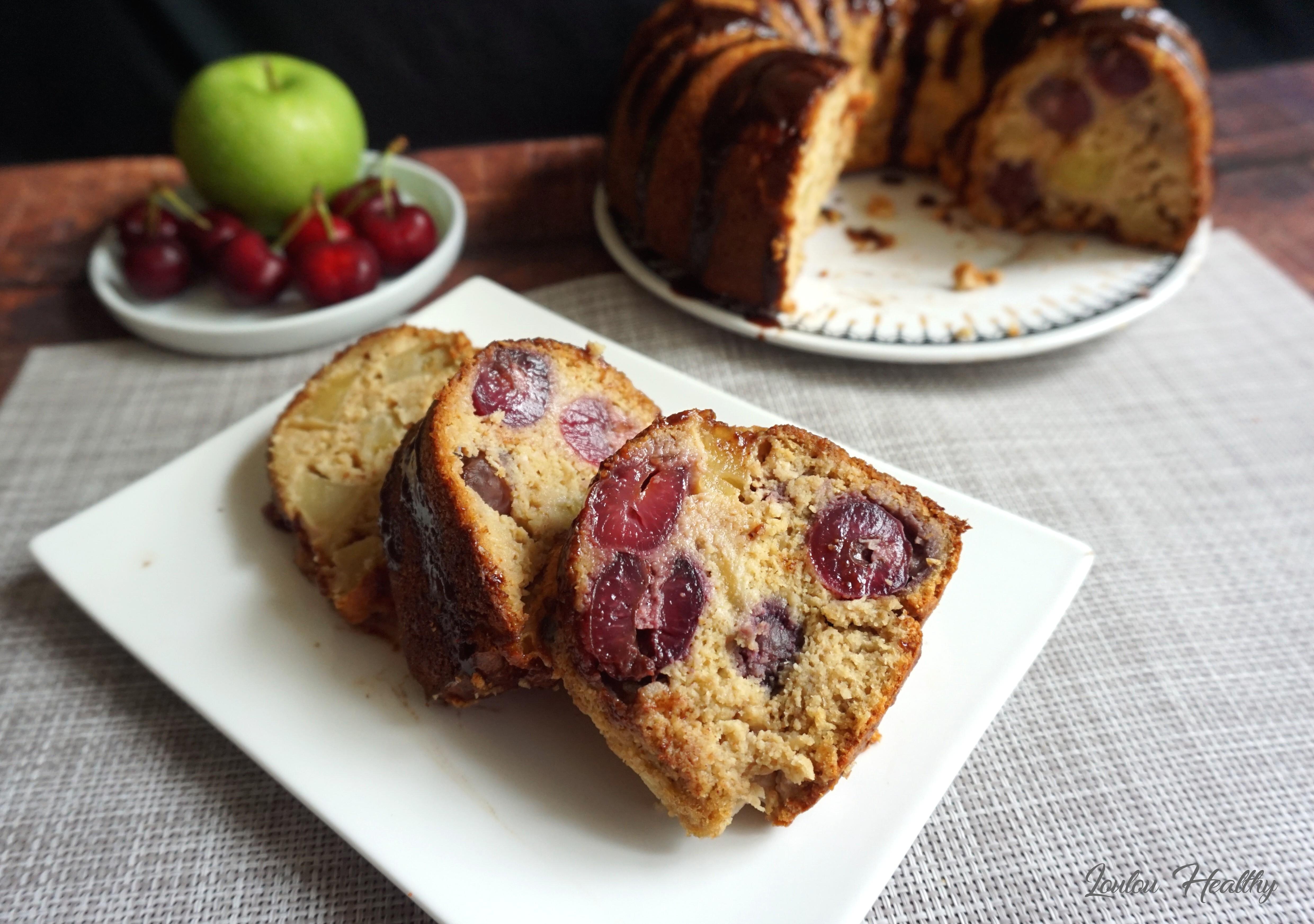 cake pomme, cerise, noix de coco2