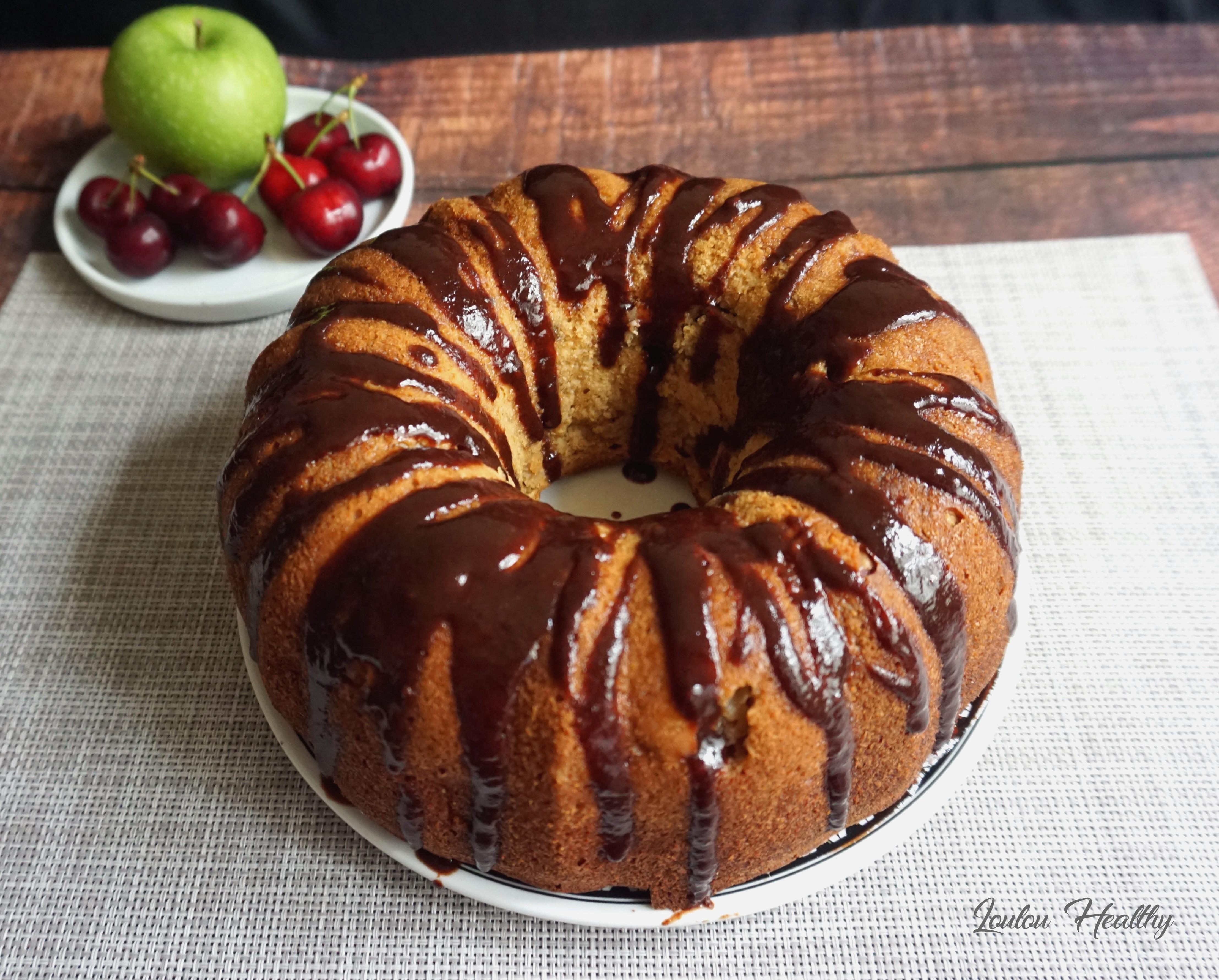 cake pomme, cerise, noix de coco4