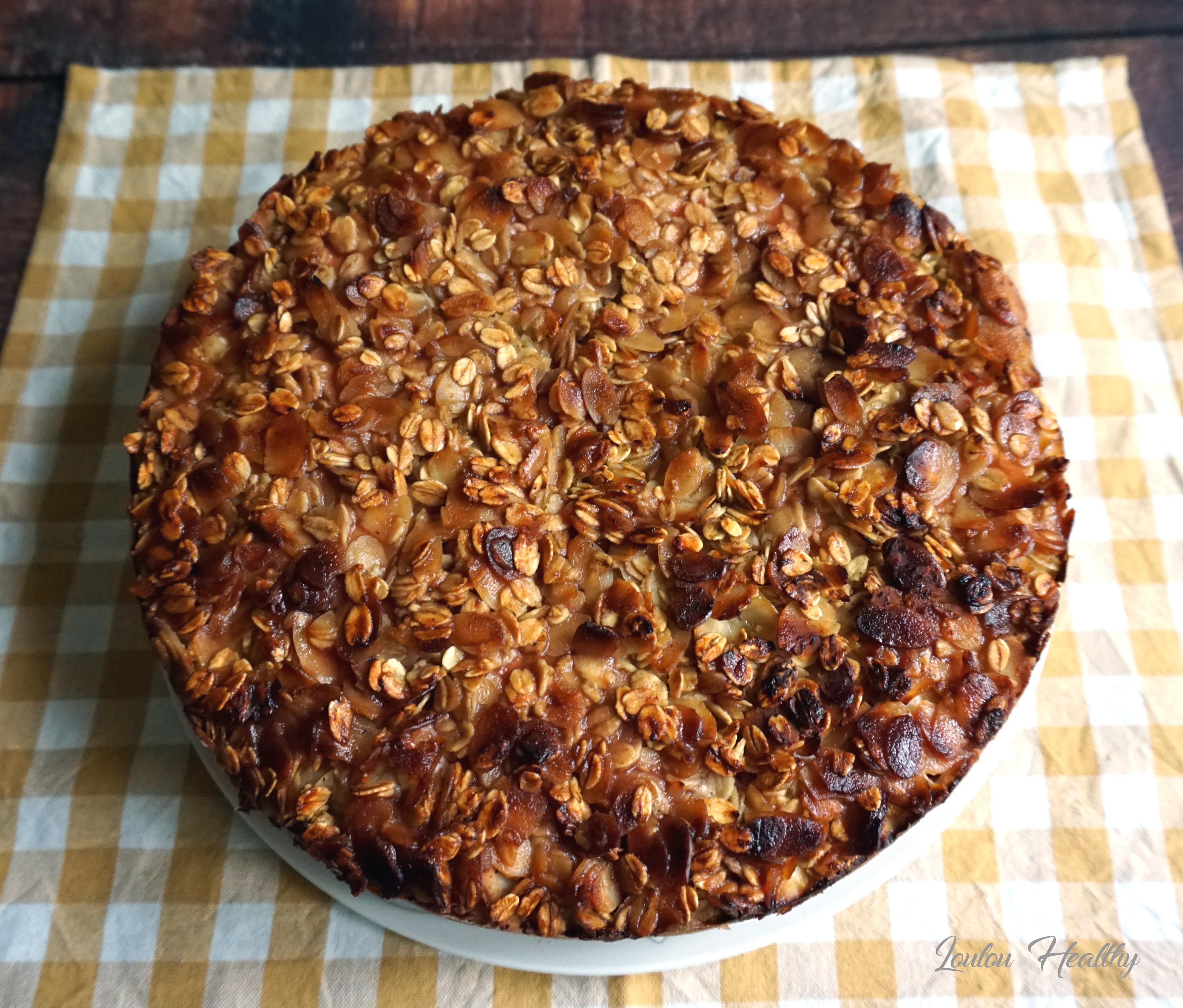 gâteau à la ricotta, pomme et fraise2