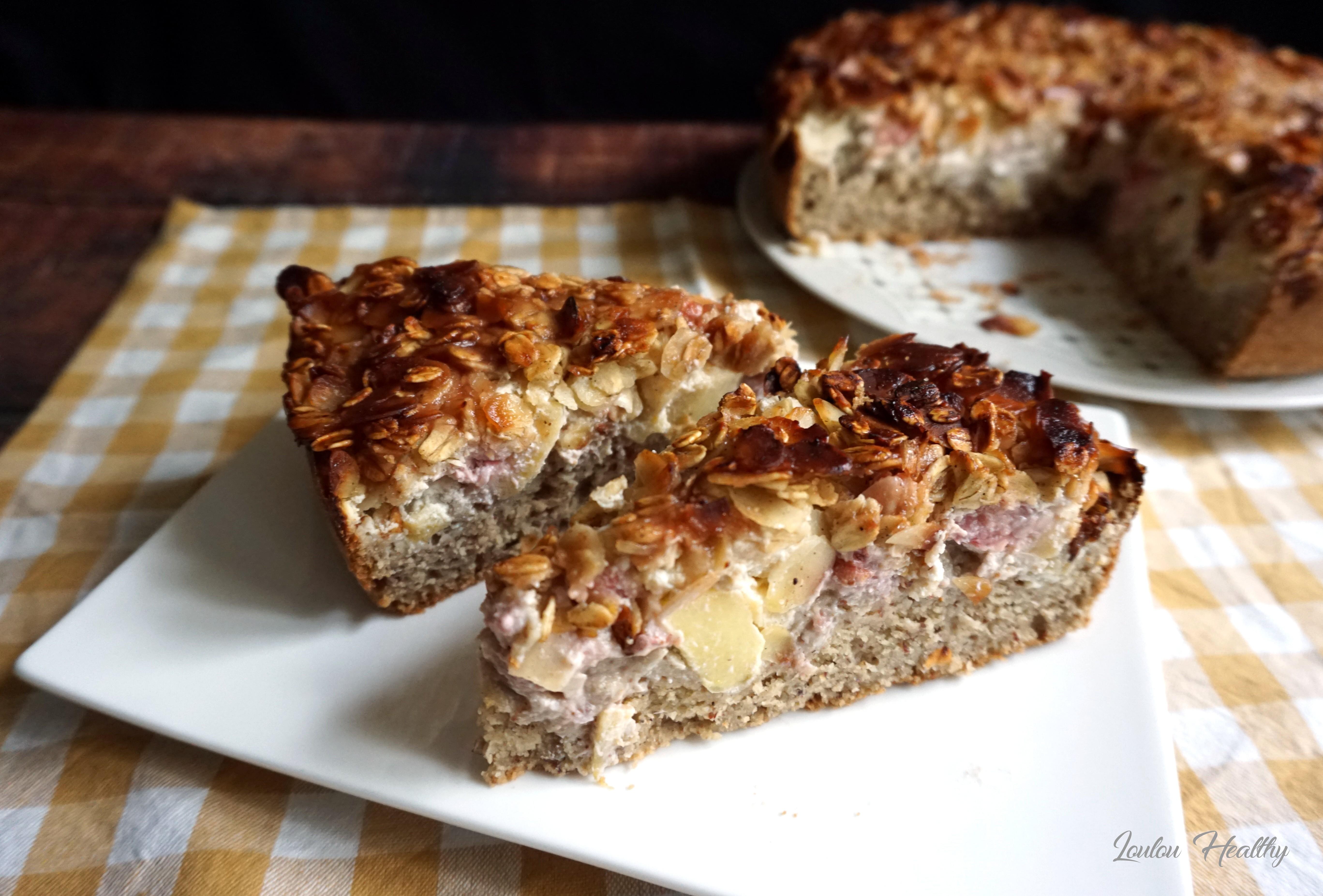 gâteau à la ricotta, pomme et fraise4