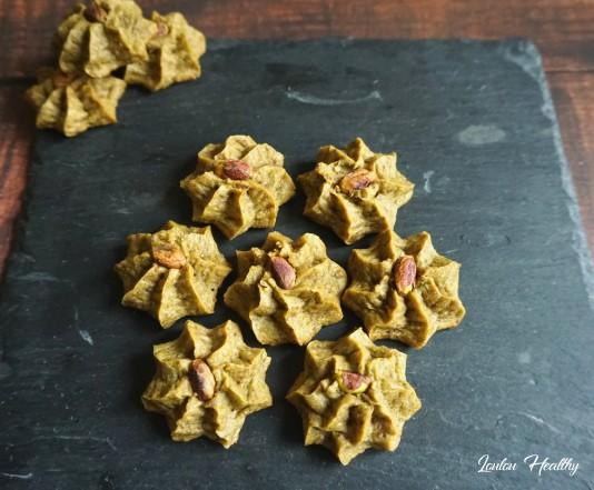 rosettes à la pistache